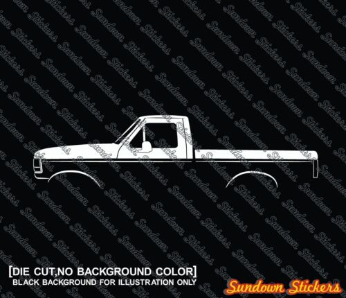 1992-1996 2X Car silhouette stickers retro pickup truck for Ford F150
