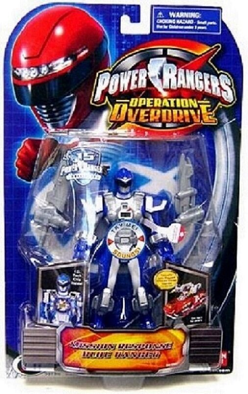 Power Rangers Operation Overdrive Mission Response bluee Ranger New Factory Seal
