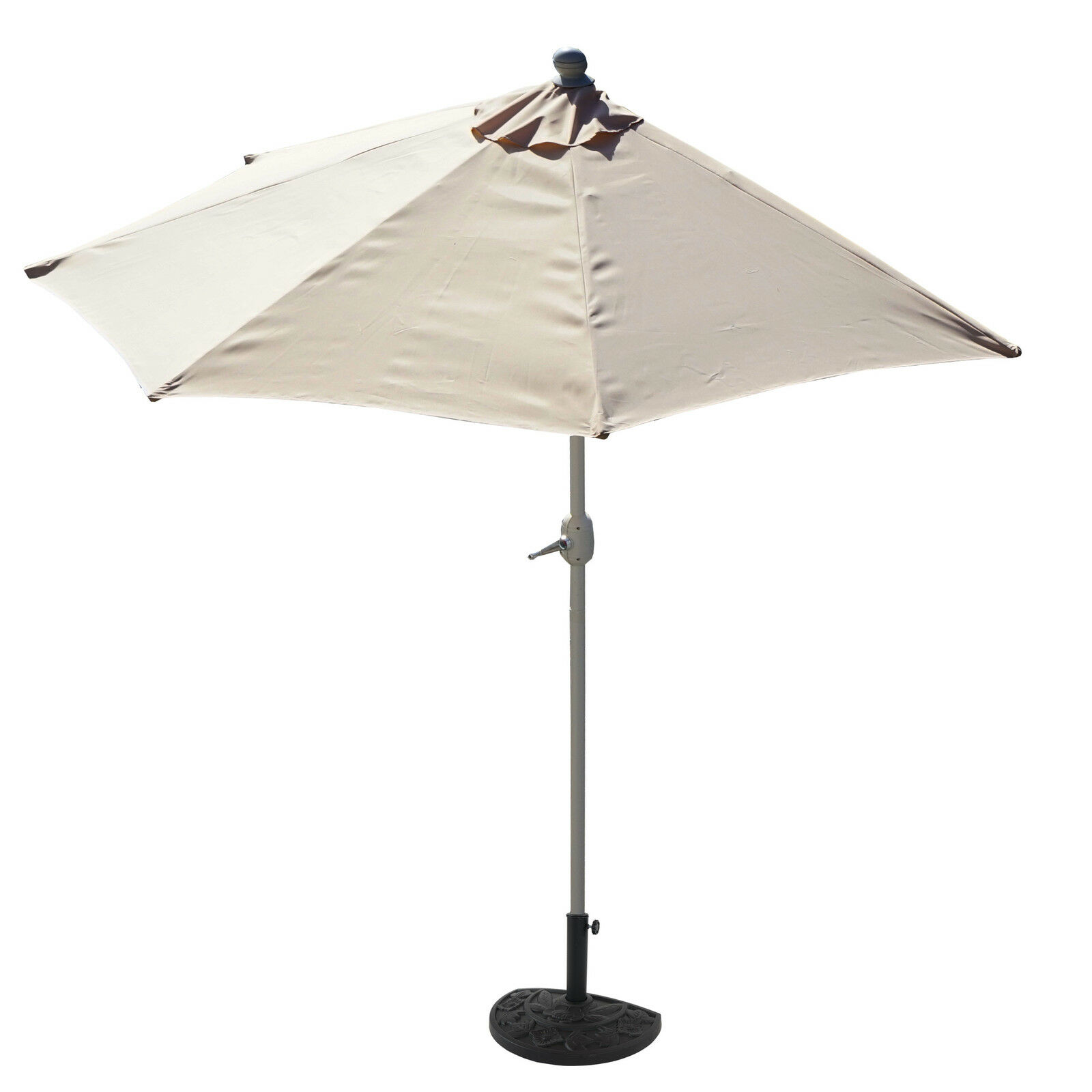 Alu-Sonnenschirm halbrund Lorca UV50+ creme 300cm mit Ständer Halbschirm