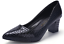 Womens-Pointed-Toe-Court-Pumps-High-Heels-Shoes-Block-Kitten-Spring-OL-Slip-On thumbnail 8