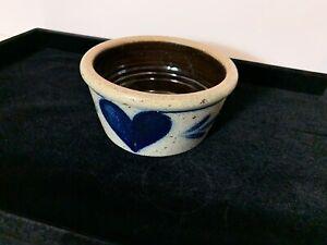 Rowe Pottery Works Salt Glaze Bowl (6.5 x 3.5) Cobalt Blue NEW 1988 Cambridge WI