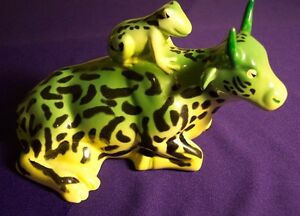 COWPARADE MOTHER FROG FIGURINE