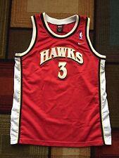 NIKE Atlanta Hawks Shareef Abdur-Rahim Youth XL Sewn #3 Jersey Red Basketball
