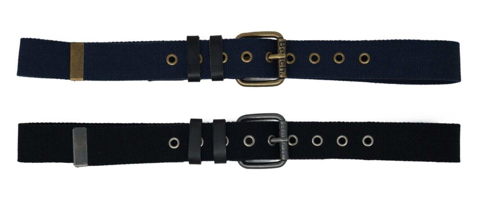 Bench Mens Belt BMUA 0141, Canvas Belt, Blue and Black