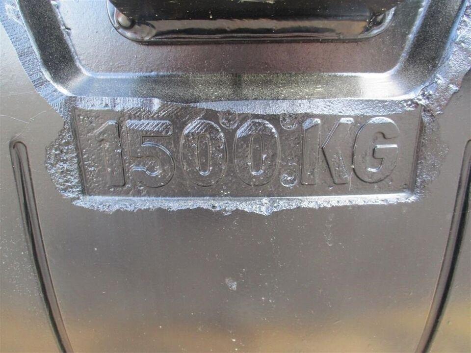 Vægtklodser, 1500 KG