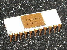 93L422-DC Rare Vintage White IC Gold Keramik F7732 selten