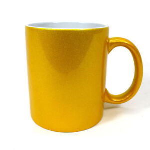 Details about SUBLIMATION MUGS SPARKLE GOLD MUGS 11OZ CERAMIC SUBLIMATION  HEAT PRINTING