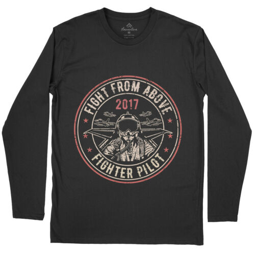 Death From Above Army T-Shirt Fight Fighter Pilot Aircraft Us Military Ba A043LS