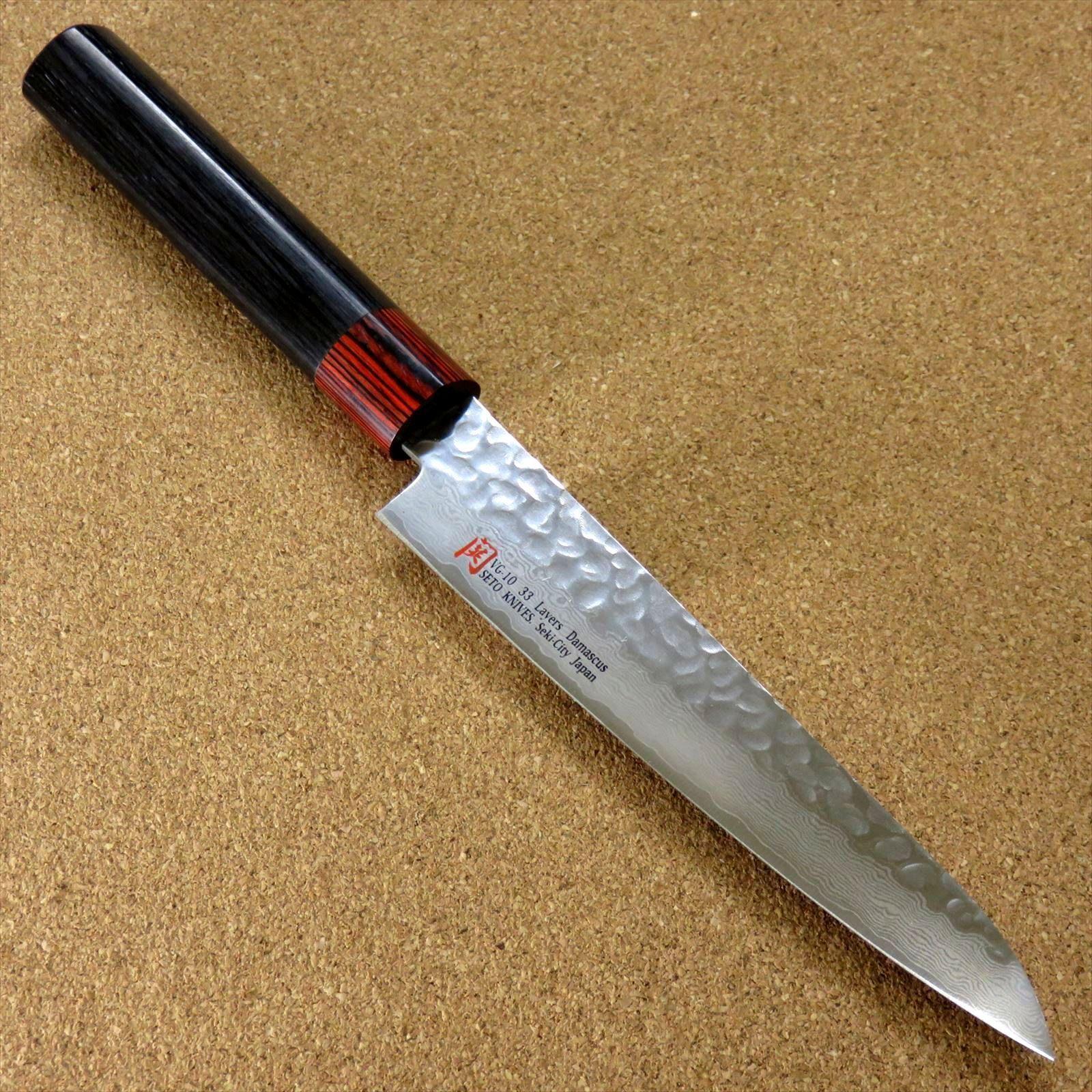 Japonais Seto ISEYA-I Cuisine PETTY Couteau 5.9  Damas martelé Japon