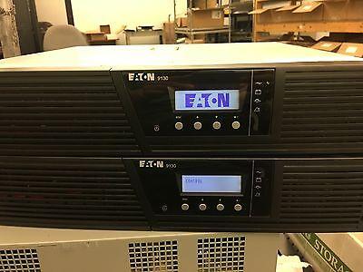 Lot of 2 EATON PowerWare 9130 Rack Mount UPS, No Battery, PW9130L1500R-XL2U