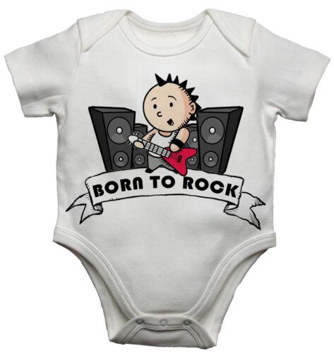 Born To Rock Personalizzato Divertente Da Bambino//Tutina Bambino Neonato
