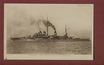 'Courbet' French Dreadnought. Cribb  vintage postcard  ps193