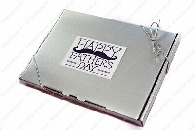 Great Value! Strong-Willed 'happy Father's Day' retro Sweets Silver Gift Box 25 Varieties