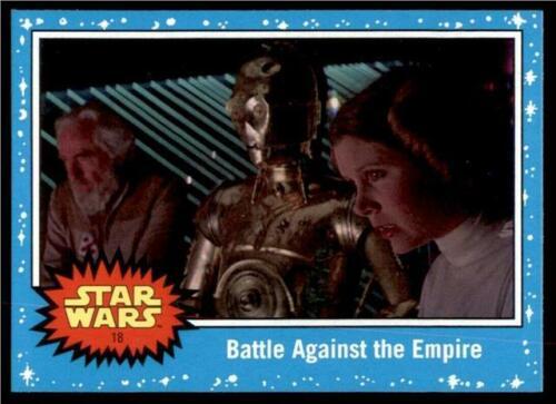 2019 Topps Journey to Rise of Skywalker Base #18 Battle Against the Empire