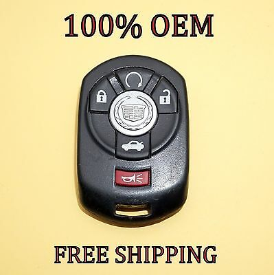 100% OEM 08-13 CADILLAC CTS DTS STS KEYLESS REMOTE FOB TRANSMITTER ...