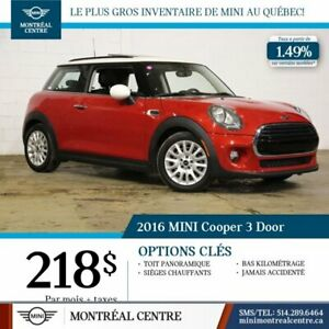 2016 MINI Cooper 3 DOOR|TOIT PANORAMIQUE|IMPECCABLE|
