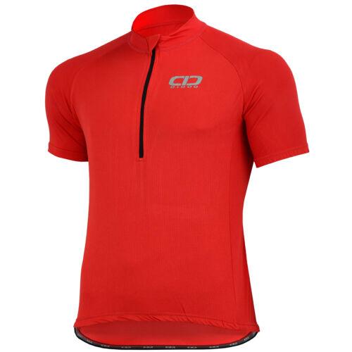 Didoo Homme Full Half Zip Maillot De Cyclisme Manche Courte Vélo Haut Vélo T SHIRT