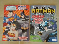 BATMAN * 2 DIFFERENT JUSTICE LEAGUE COLORING & ACTIVITY BOOKS * NEW * NICE GIFT