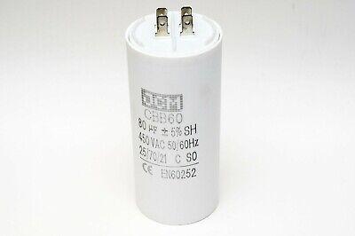 80UF 450VAC Motor Run Capacitor 450V AC CBB60 80 UF Round White 50//60HZ Cap
