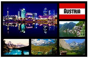 AUSTRIA SIGHTS - SOUVENIR NOVELTY FRIDGE MAGNET - GIFTS / SIGHTS / FLAGS NEW
