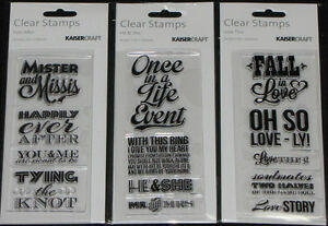 KAISER Kaisercraft TEXTURE Clear Stamps /'LOVE//MARRIAGE/' Choose from 3 Designs