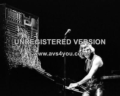 "Keith Emerson Lake And Palmer 10"" X 8"" Photograph No 16 Het Verlichten Van Reuma"