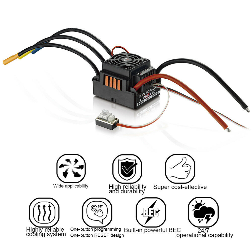 Hobbywing QuicRun 1:8 Brushless Impermeabile 150A ESC OFF ROAD  WP-8BL150 LOTTO YT