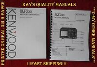 Kenwood Sm-230 Instruction & Service Manuals On 32 Lb Paper W/protective Covers