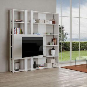 Details zu Bücherregal mit Tv-Wand KATO M aus Holz ITAMOBY Wohnzimmer Büro  Modern 178x204cm