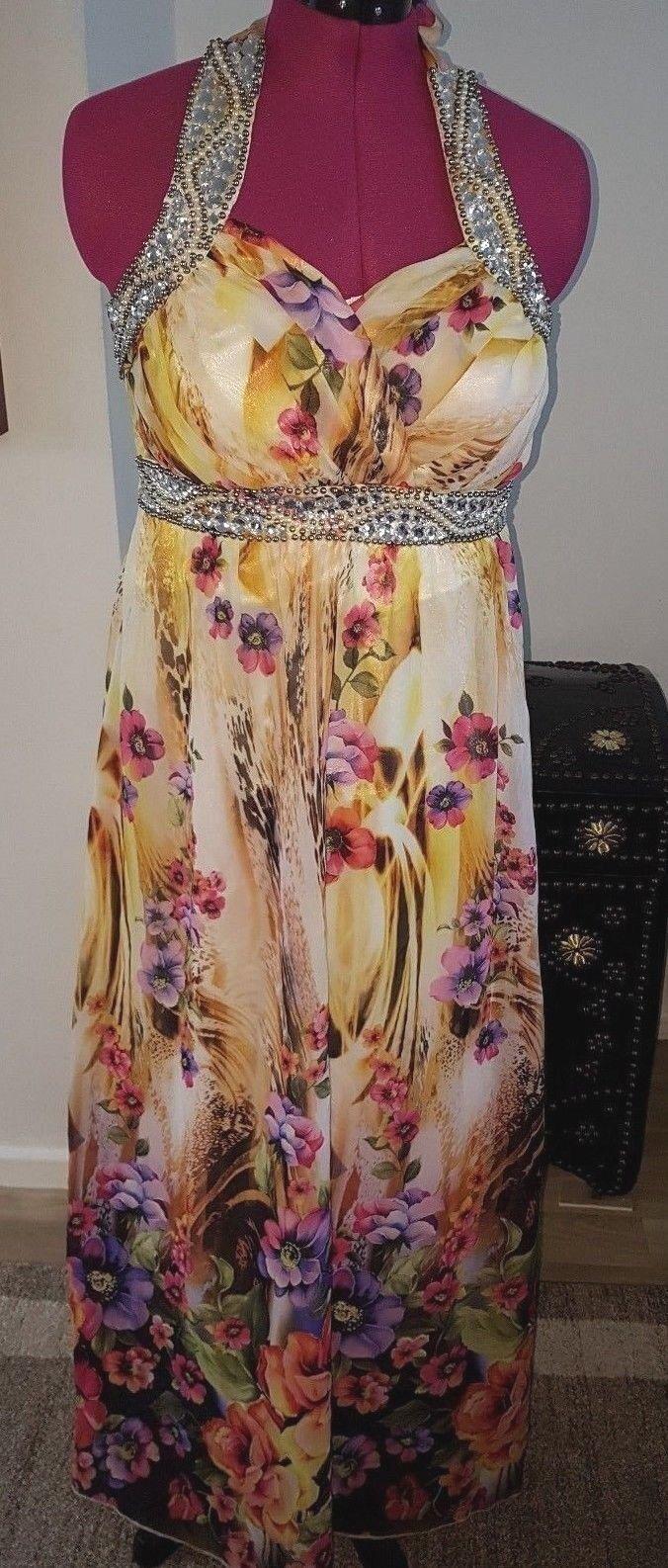 House of Fraser Designer Quiz Spring Summer Dress Dress Dress Quiz GB Size 14 Eur 42 77c0a1