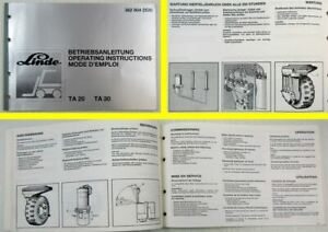 Linde-TA20-TA30-Gabelstapler-Betriebsanleitung-Operating-Instructions