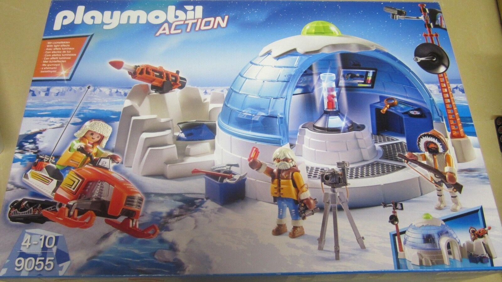 Playmobil Action 9055 base polaire expédition banquise pole hiver moto neige ski