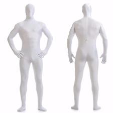 DH Zentai White Suit Men's Spandex Lycra Halloween Full Body Costume - Size S