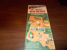 1968 Chevron New Mexico Vintage Road Map
