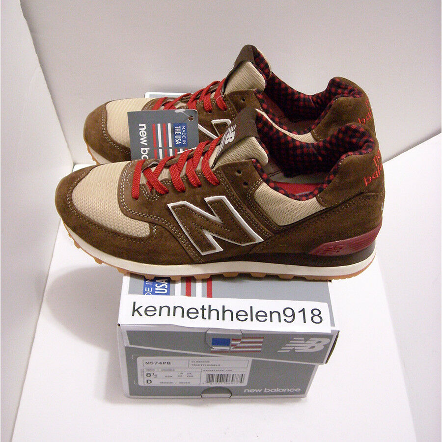 NEW NEW NEW BALANCE 574 MADE IN USA M574PB PAUL BUNYAN RUNNING schuhe braun MENS SZ 8.5,9 105f31