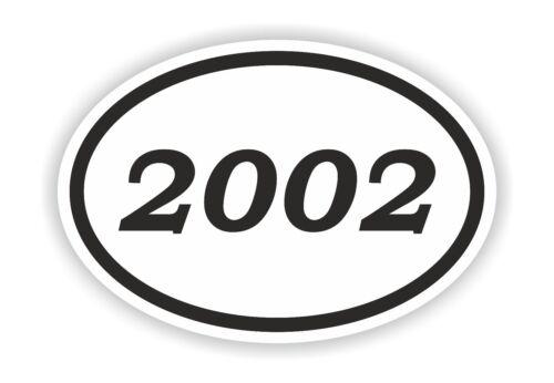 2002 Year Oval Sticker Date Birthday Historical Event Timeline Calendar News Era