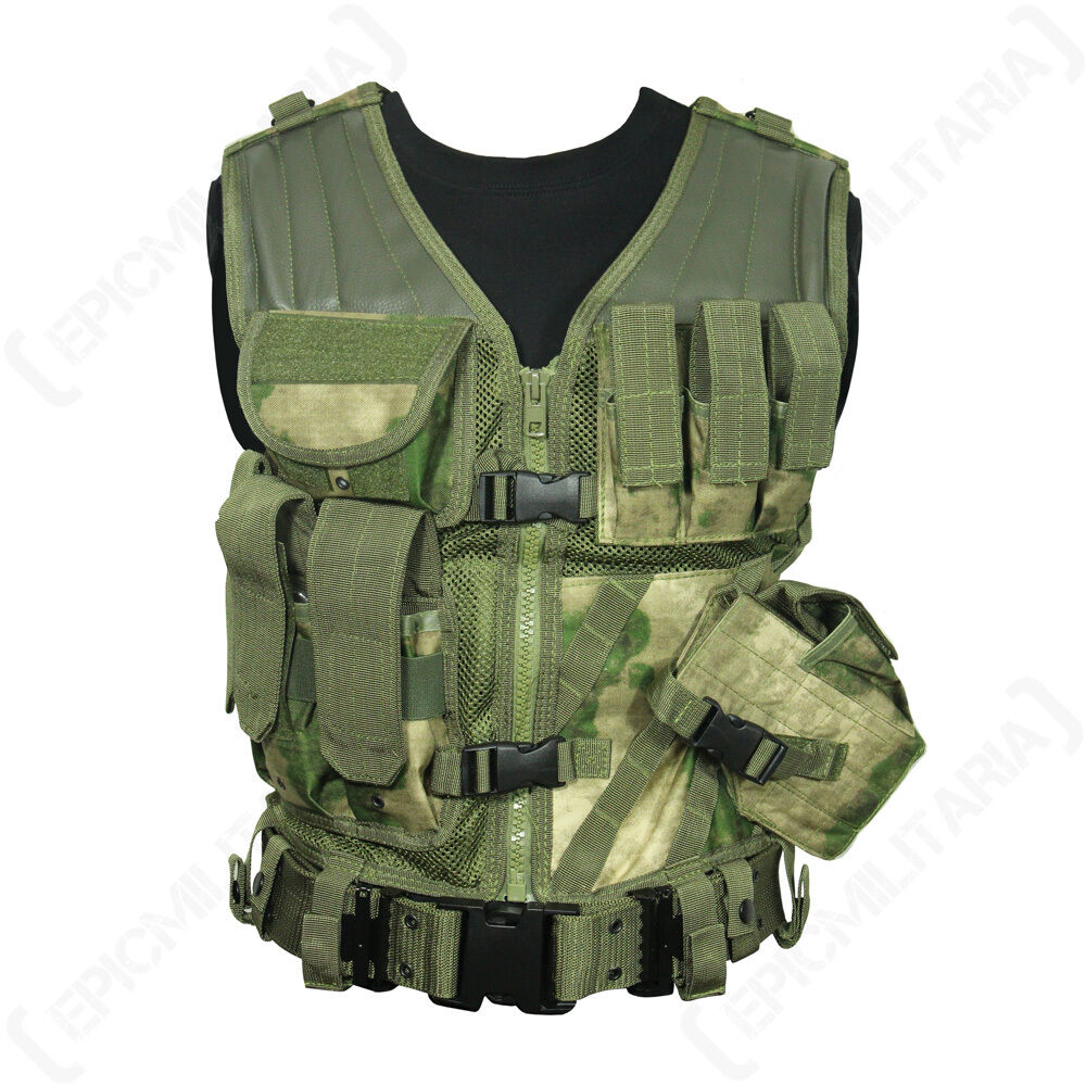 Miltacs FG USMC Tactical Vest  Military Combat Assault Airsoft Paintbtuttiing nuovo