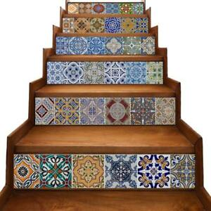 Tile Backsplash Stair Riser Decals Diy