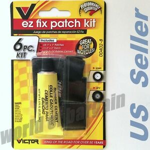 BIKE ATV Flat TIRE Puncture Repair Kit Bicycle Inner Tube EZ Patch Rubber Cement | eBay