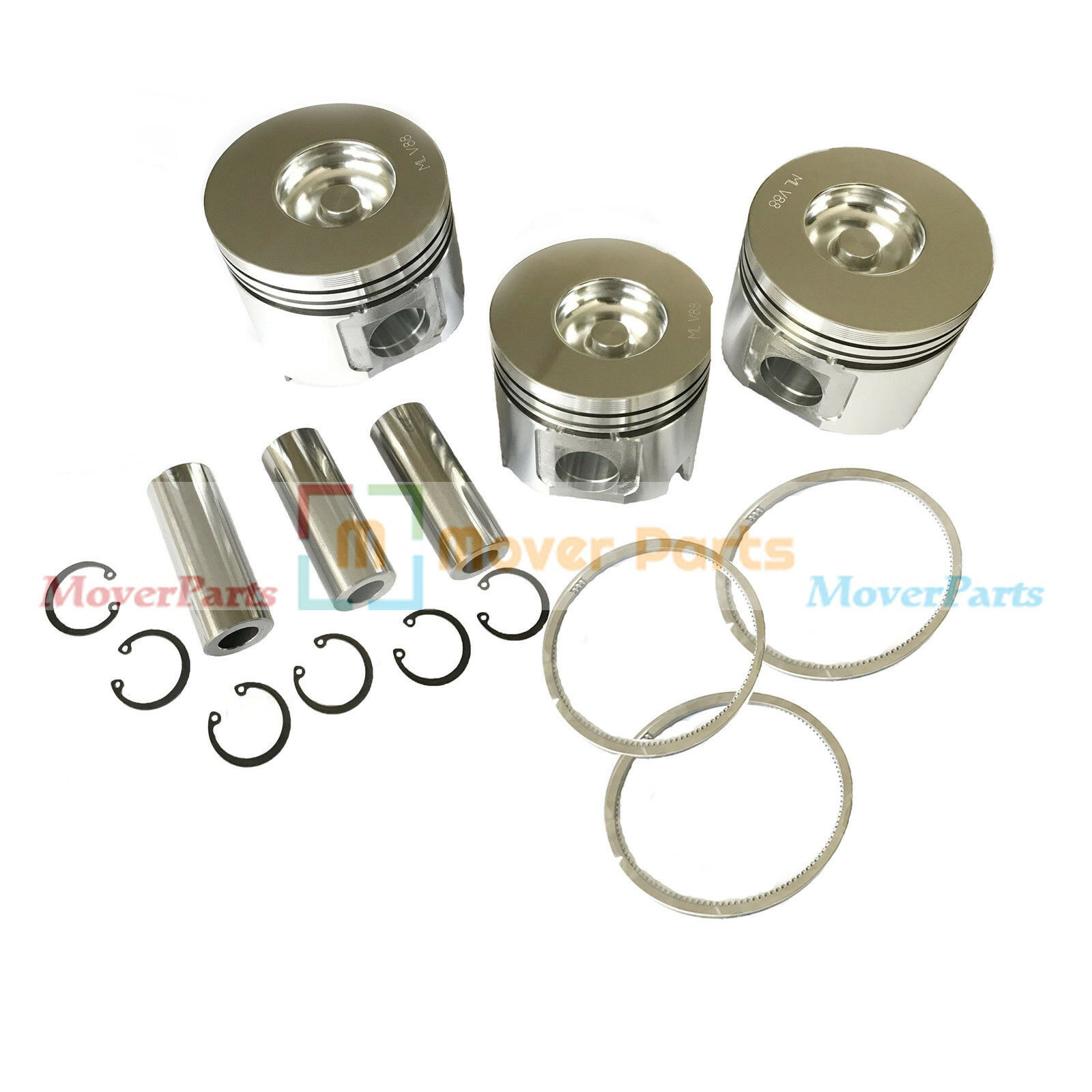 Piston Kit &Ring Set Y12905 -22080 Y12905 -22500 för Yanmar Motor 3TNV88