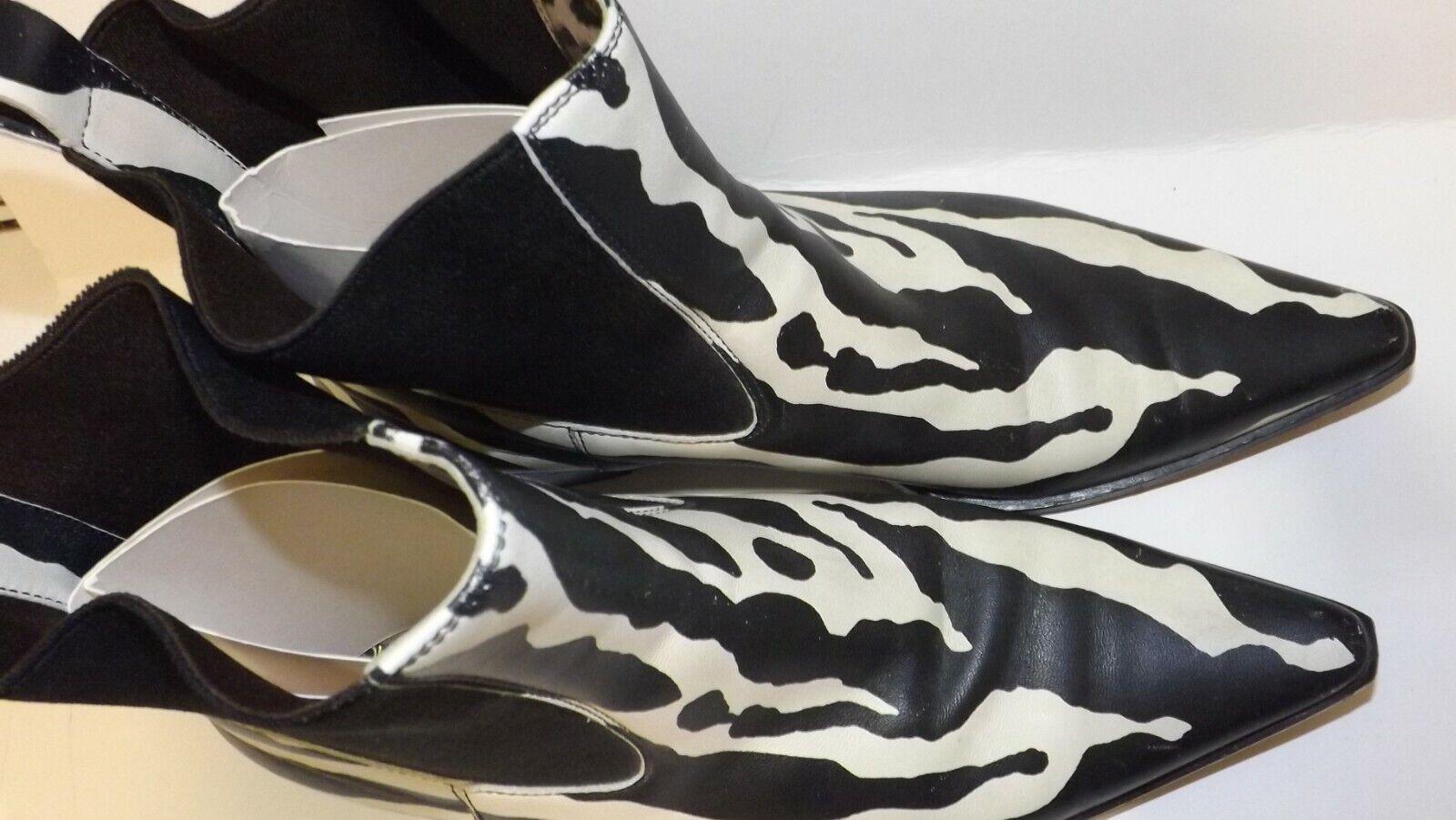 Women's Designer Boots Zebra Animal Print b/w Dol… - image 4