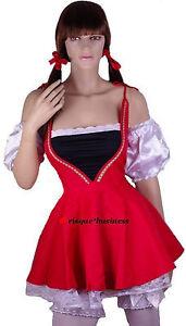 Oktoberfest Heidi German Swiss Beer Wench Maid Fancy Dress Costume 8 10 12 14