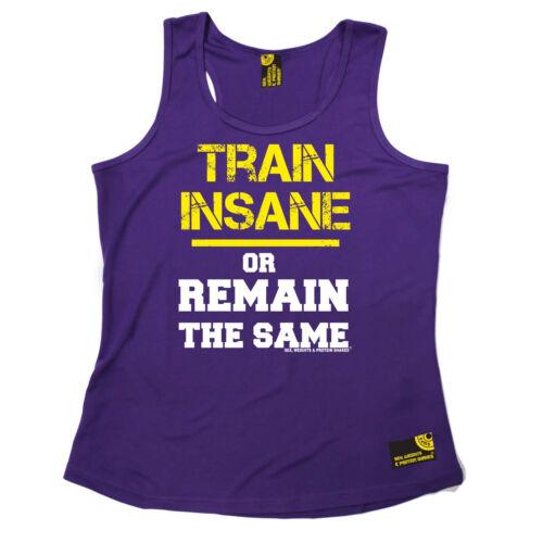 Train Insane Or Remain The Same Gym funny BirthdayWOMENS GIRLIE VEST