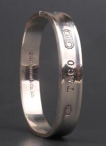 UK-Pre-owned-Tiffany-amp-Co-bracelet-bangle-925-Sterling-Silver-1997-design