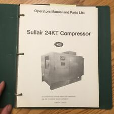 Sullair 24kt Operation Maintenance Manual Parts Book List 20150 Air Compressor