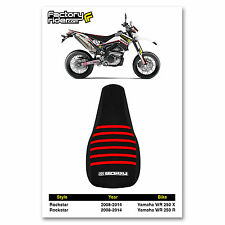 2008-2014 YAMAHA WR 250 X & R Black/Red RIBBED GRIPPER SEAT COVER BY Enjoy MFG