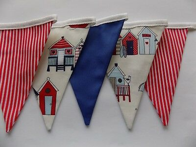 Fabric Pink Gingham Bunting Wedding Birthday Garden Party  Handmade 3m 9 flags