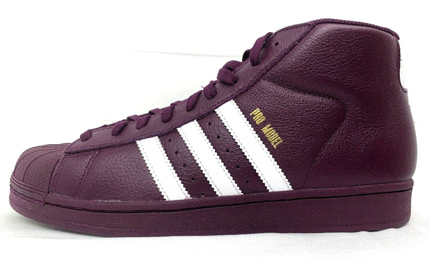 ADIDAS Pro Model Mens Mid Top Sneaker AC7646 US SIZE 8.5 Burgundy color 3 stripe