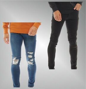 Homme-Loyalty-and-Faith-details-effet-vieilli-Slim-Jeans-Tailles-taille-de-30-To-38