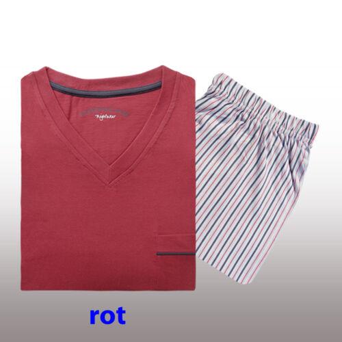 Herren Pyjama Schlafanzug Nachtwäsche Shorty kurzarm 2-teiliges Set M-L-XL-XXL.…